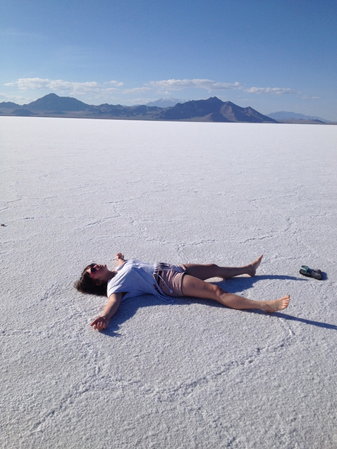 Jenna In the Salt Flats